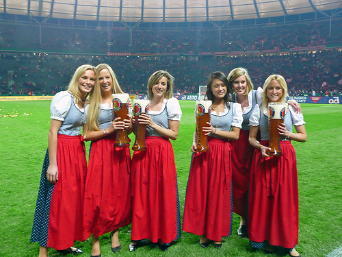 ...and these lovely ladies would be serving the bier!