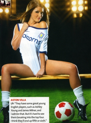 lucy pinder soccer
