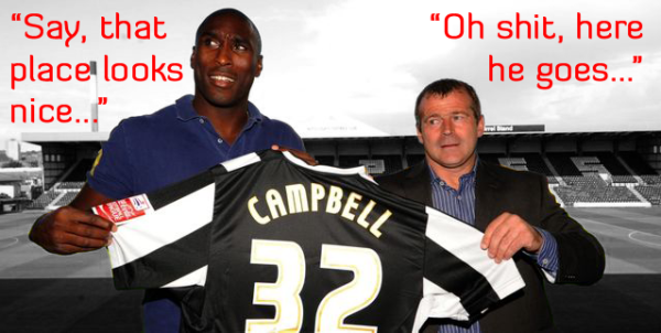 Sol Campbell, Notts County Free Agent.