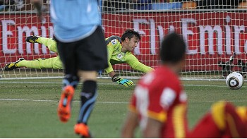 Muslera beaten by Muntari's shot